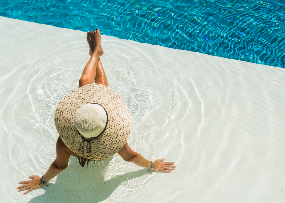 Summer Skin Care Solutions Pool Outdoors Skin Care