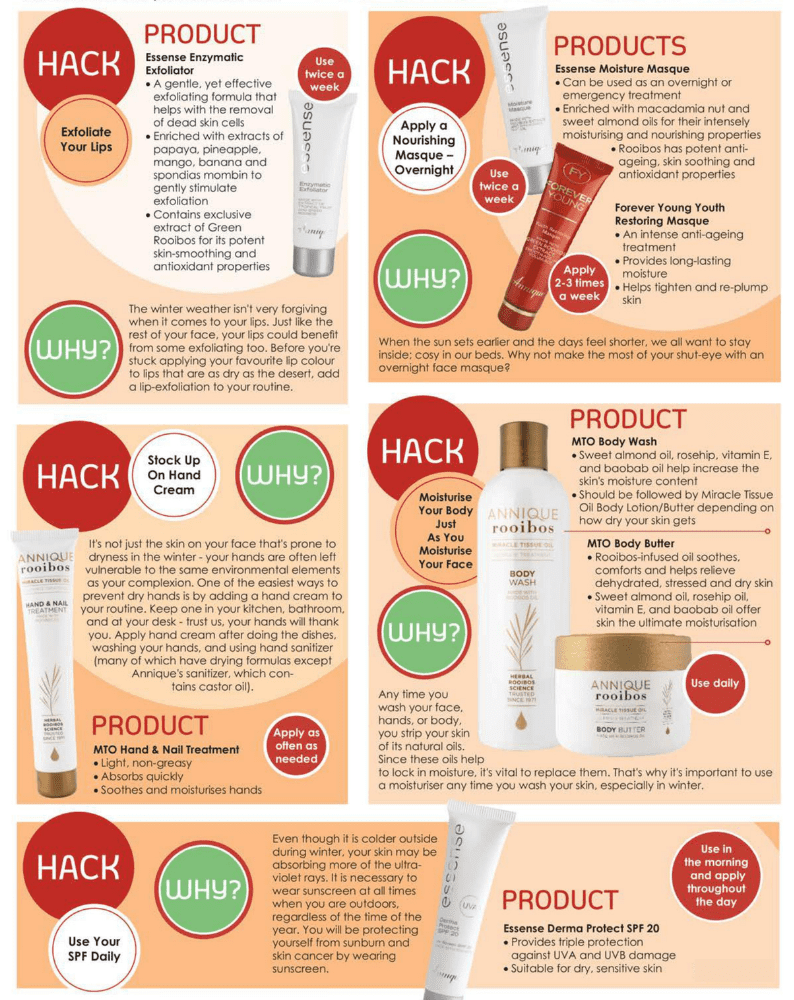 Annique Rooibos Skincare products for dry skin winter skincare hacks
